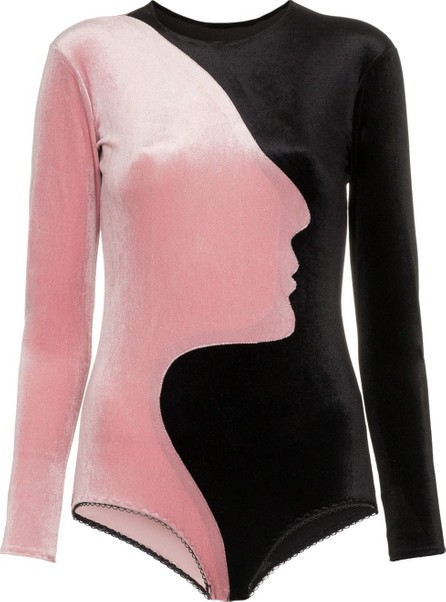 Alexia Hentsch X Browns face panelled velvet bodysuit