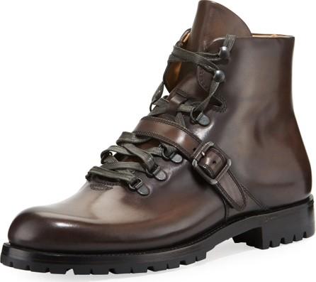 Berluti Brunico Venezia Leather Hiking Boot
