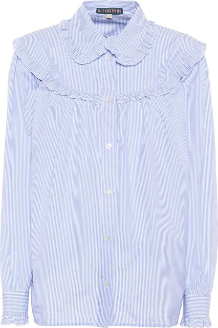 Alexachung Ruffled striped cotton shirt
