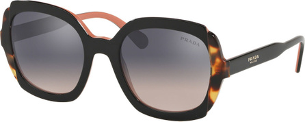 Prada Square Mirrored Acetate Sunglasses