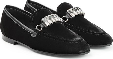 Giuseppe Zanotti Embellished Velvet Loafers