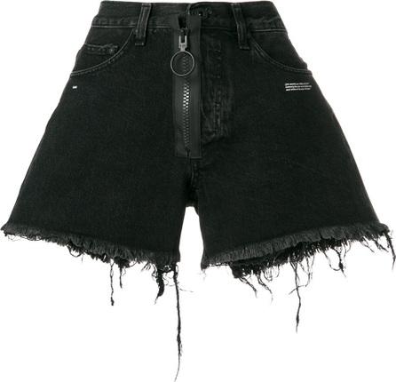 Off White Frayed denim shorts