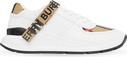 Burberry London England Vintage Check touch strap sneakers
