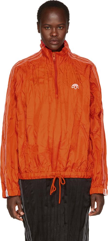 Adidas Originals by Alexander Wang Red Half-Zip Windbreaker
