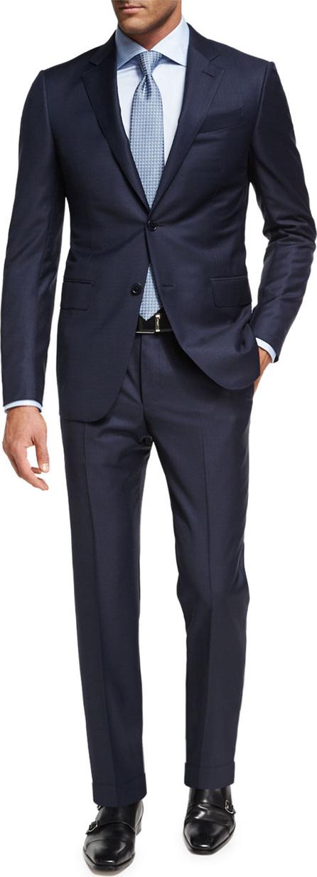 Ermenegildo Zegna Trofeo® Wool Textured Two-Piece Suit, Navy