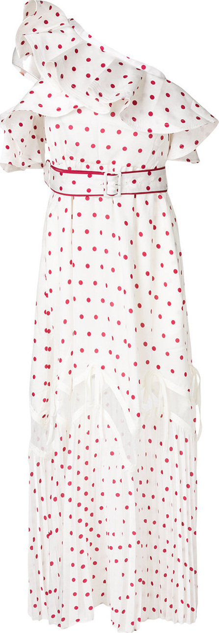 Self Portrait Polka dot one shoulder dress