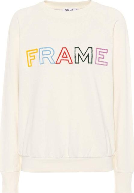 FRAME DENIM Embroidered cotton sweatshirt