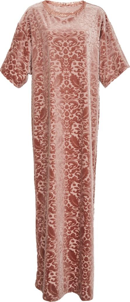 Anna Sui Damask Velvet Knit Dress