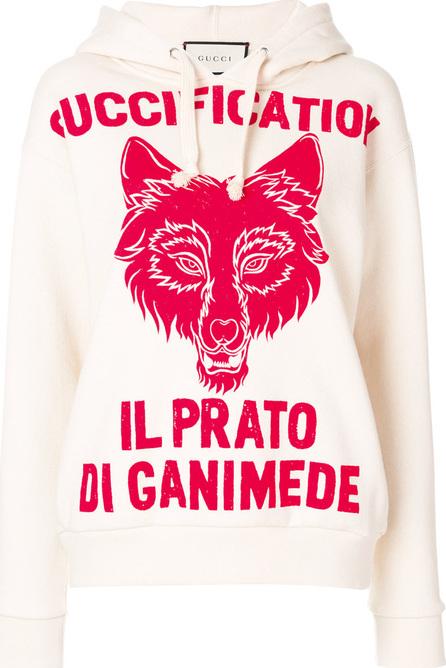 Gucci Il Prato Di Ganimede Guccification print hoodie