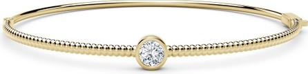 Forevermark 18K Yellow Gold Beaded Diamond Bangle Bracelet