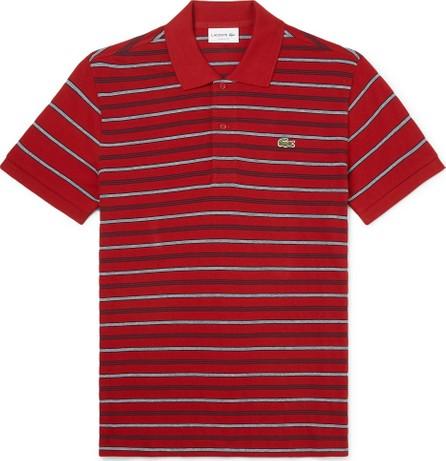 Lacoste Striped Cotton-Piqué Polo Shirt