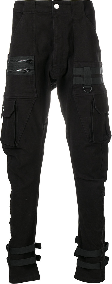 C2H4 Drop-crotch tapered trousers