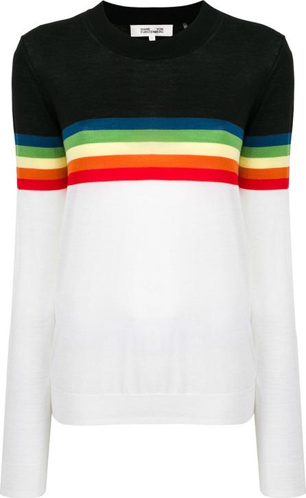 DIANE von FURSTENBERG Blocked stripe sweater