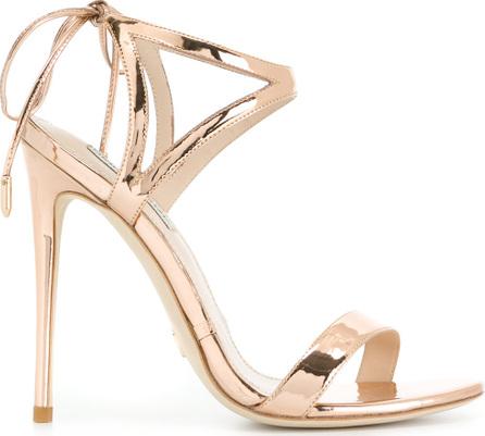 Gianni Renzi Mirrored high heel sandals