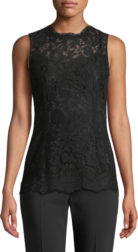 Dolce & Gabbana Crewneck Sleeveless Lace Shell Top