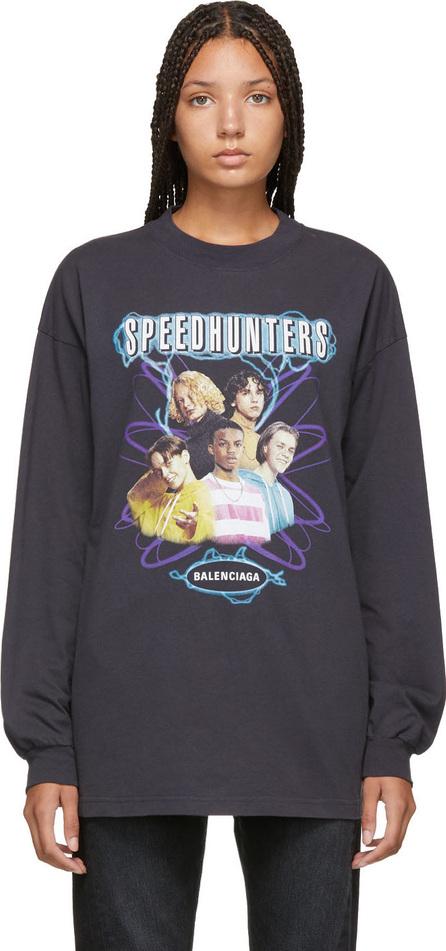 Balenciaga Black 'Speedhunters' Long Sleeve T-Shirt