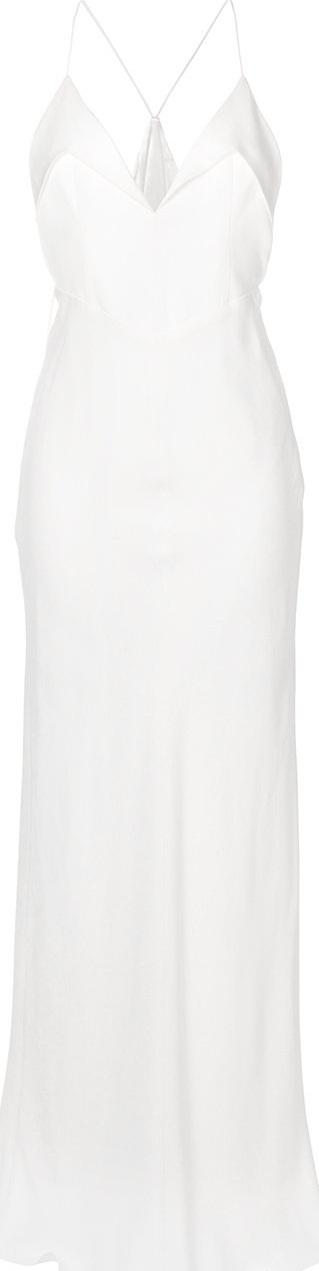 Galvan Plunge neck gown