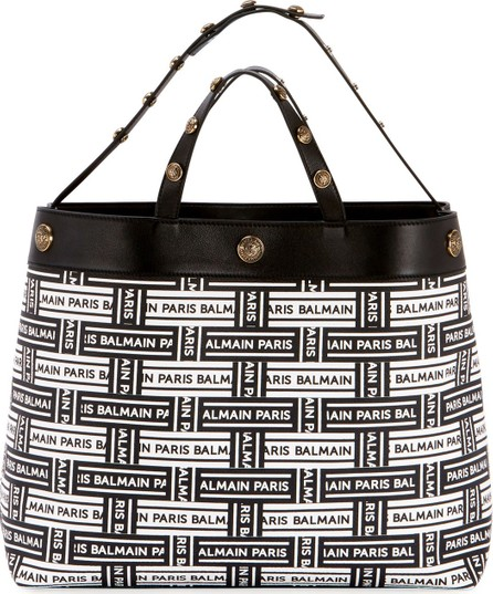 Balmain Logo Shopping Tote Bag