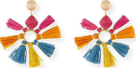 Akola Multi-Tassel Fan Earrings