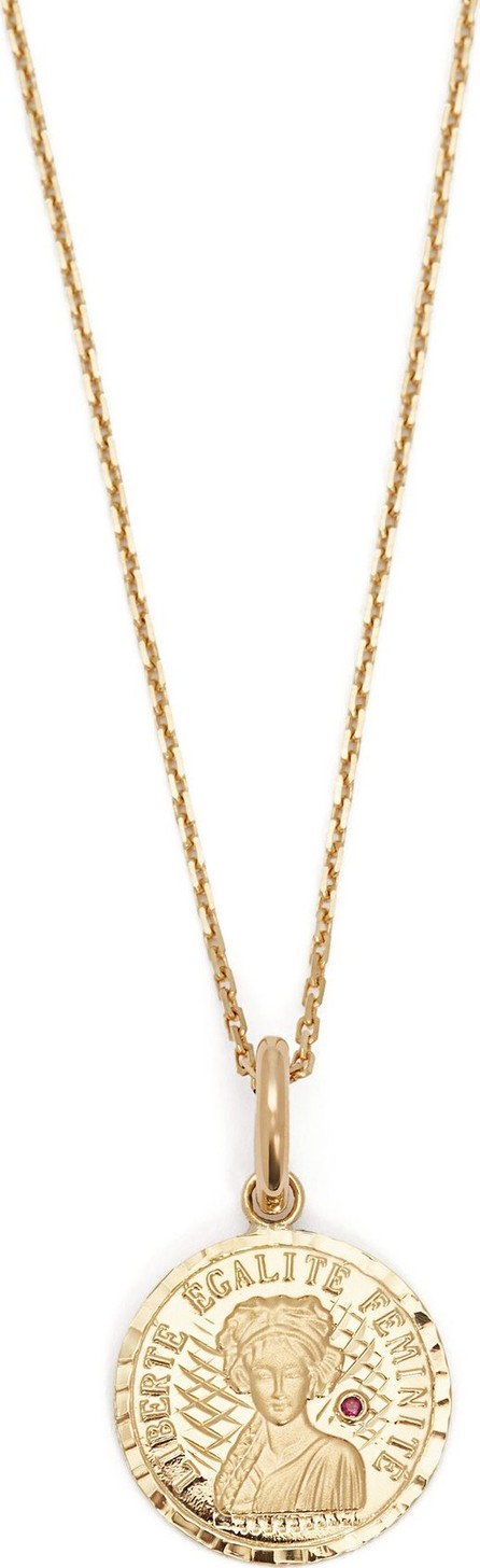 Anissa Kermiche Louise D'Or ruby & 18kt gold necklace