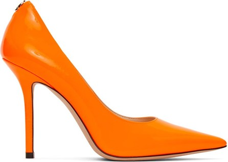 Jimmy Choo Orange Patent Love Heel