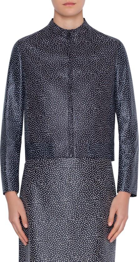 Akris Punto Memphis Pastina Print Leather Jacket