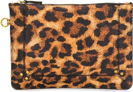 Jerome Dreyfuss Zipped leopard print make up bag