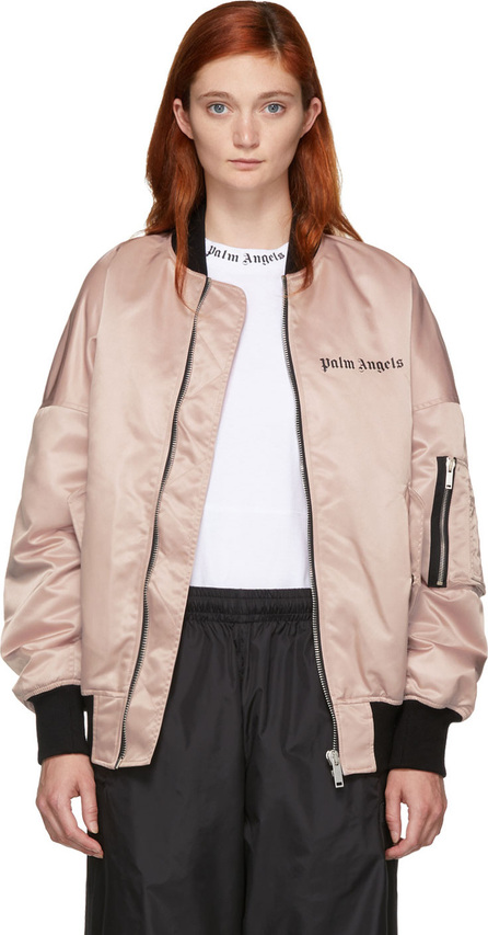 Palm Angels Pink Logo Over Bomber