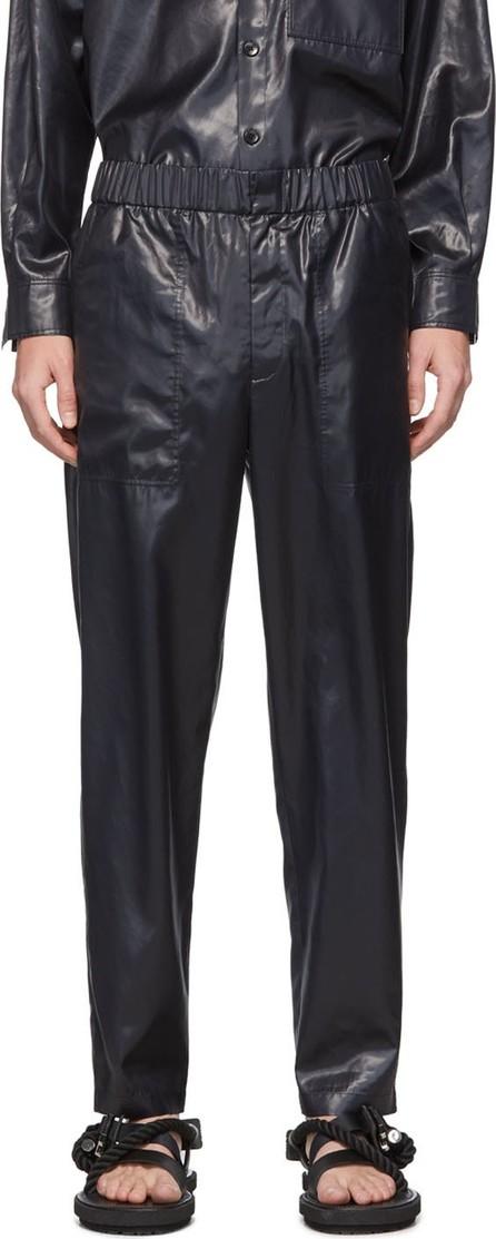 Tibi SSENSE Exclusive Navy Liquid Trousers