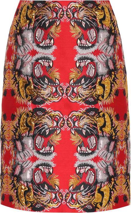 Gucci Tiger brocade skirt