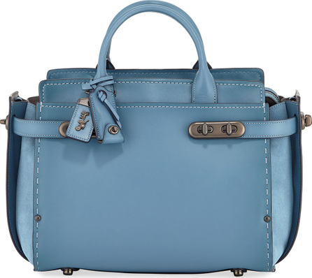 COACH 1941 Swagger Mixed-Leather Satchel Bag