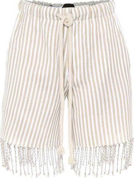 LOEWE X Paula's Ibiza striped cotton shorts