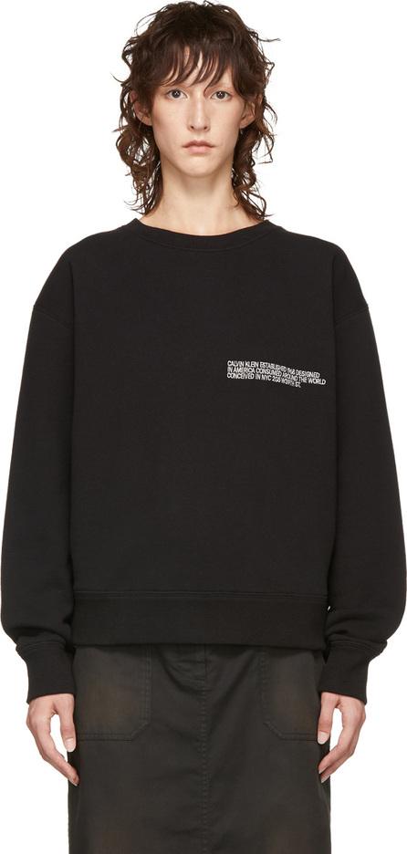 Calvin Klein 205W39NYC Black Logo Crewneck Sweatshirt
