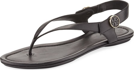fa5d4f743 Tory Burch Minnie Leather Flat Travel Sandals