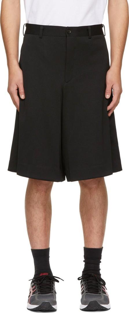 Comme Des Garçons Homme Plus Black Ponte Shorts