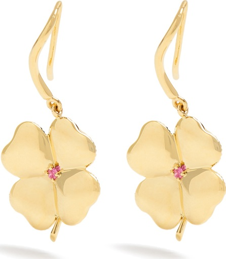 Aurelie Bidermann Fine Jewelry Clover sapphire & yellow-gold earrings