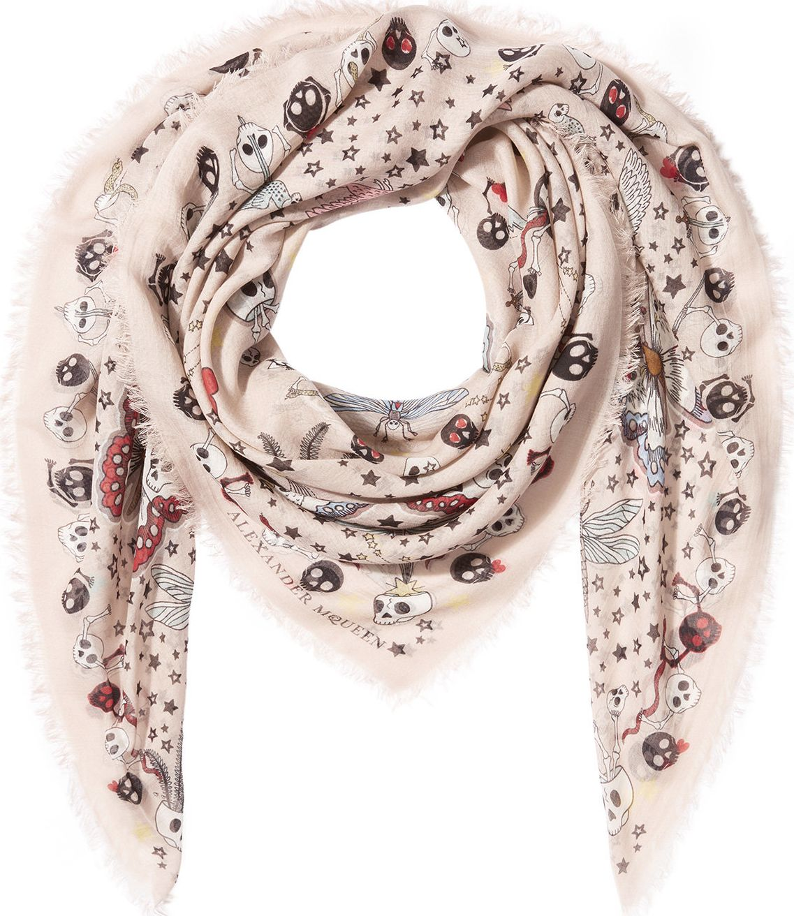 Alexander McQueen - Printed Scarf with Silk