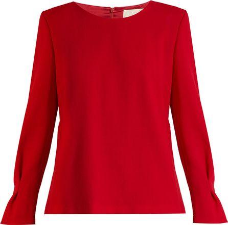 Goat Elsie wool-crepe blouse