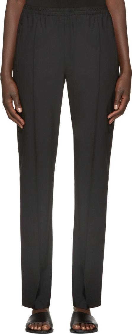 6397 Black Wool Track Trousers