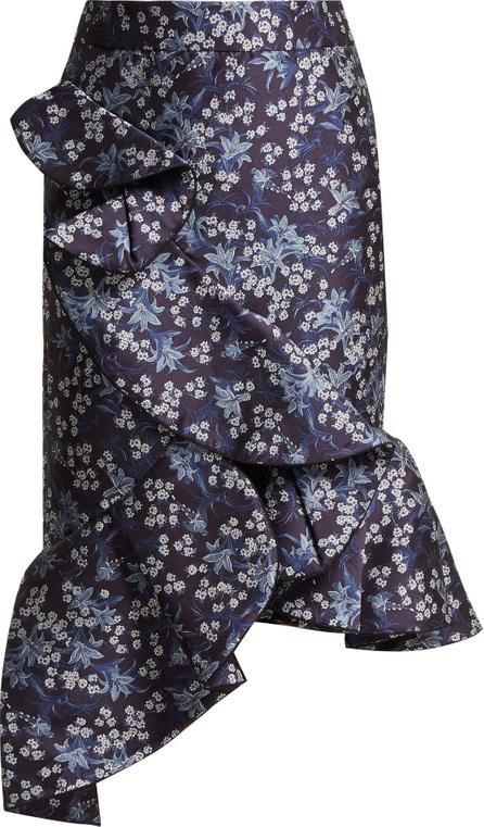Johanna Ortiz Belladonna floral-jacquard skirt