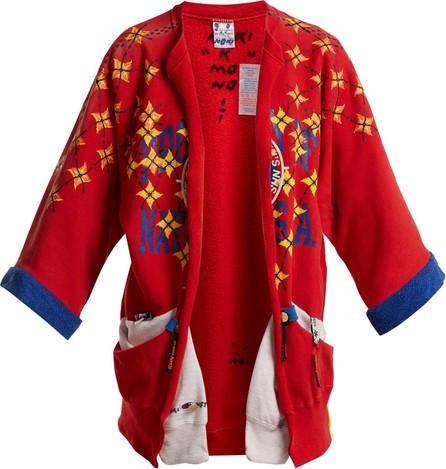 Noki Matchstick-print kimono-style jacket