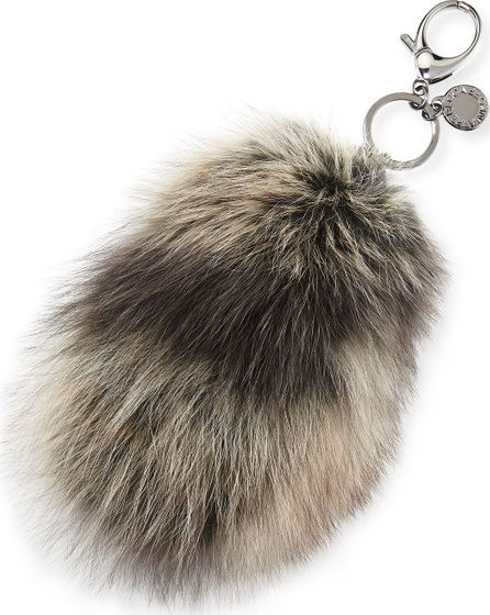 Rebecca Minkoff Fox-Fur Tail Charm for Handbag, Black/Multi