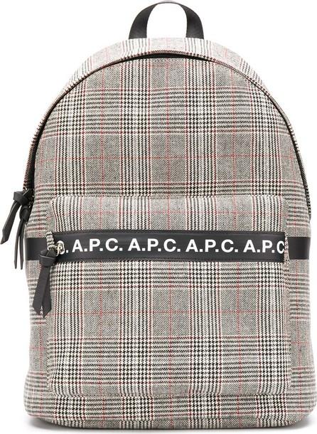 A.P.C. Tweed logo backpack