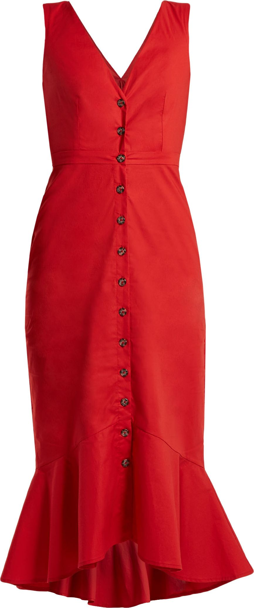 Saloni - Zoey stretch-cotton dress