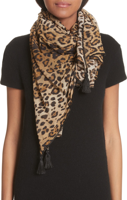 Fuzzi Leopard Print Scarf