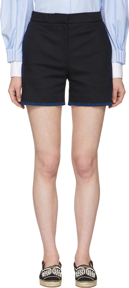 Fendi Navy Whipstitch Shorts