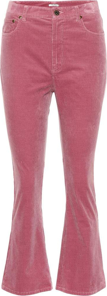 Miu Miu Flared corduroy pants