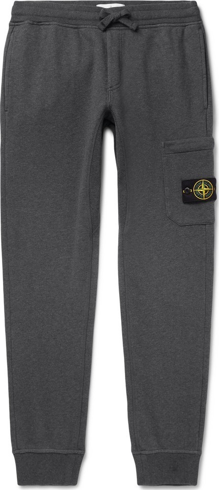 Stone Island Tapered Loopback Cotton-Jersey Sweatpants