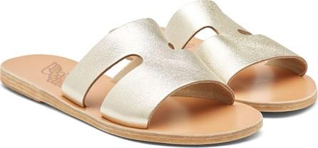 Ancient Greek Sandals Apteros Metallic Leather Sandals