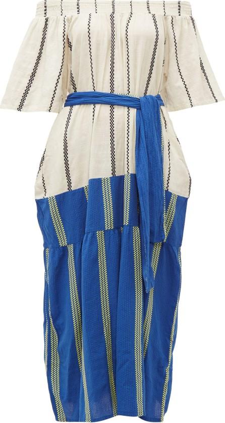 ace&jig Casa contrast-panel striped cotton dress